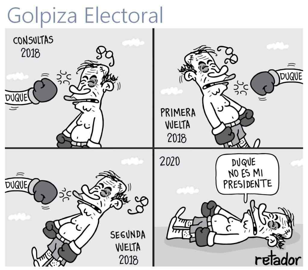 Retador golpiza electoral