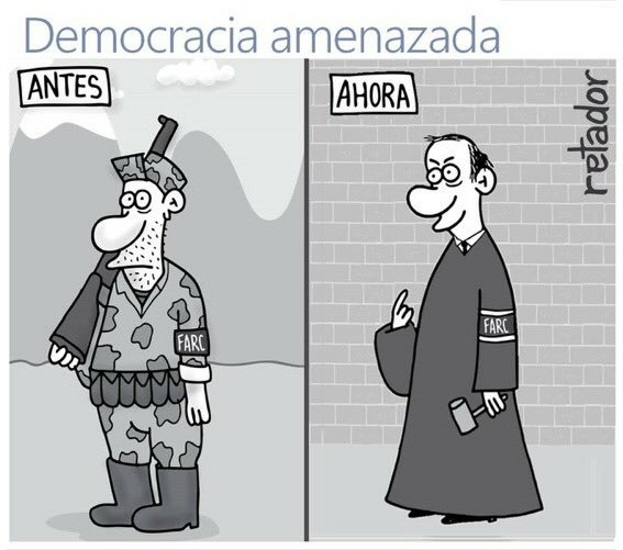 retador democracia amenazada
