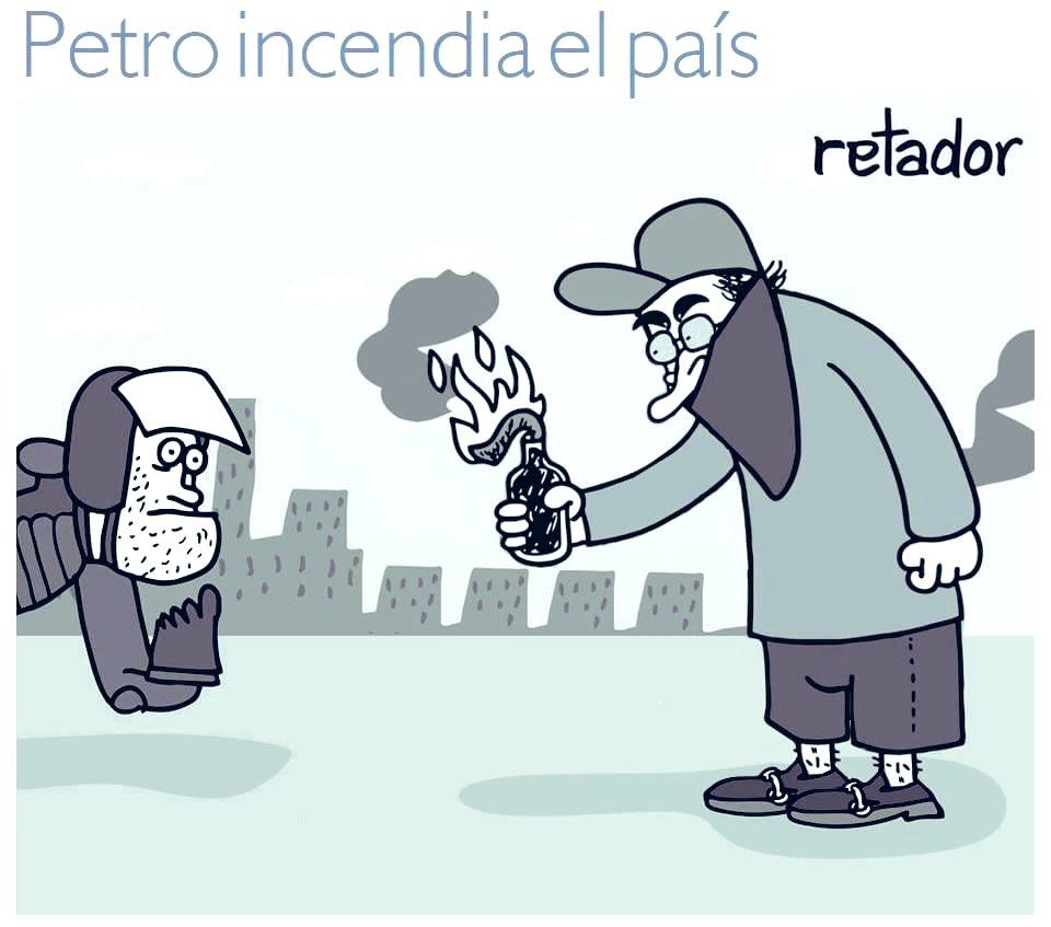 Petro incendia el país-Retador